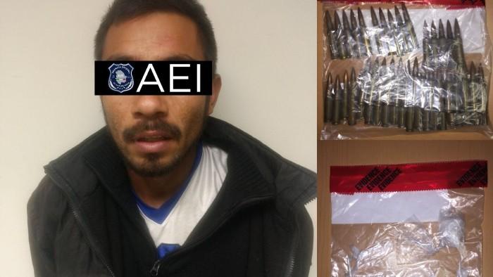 Detenido droga y cartuchos