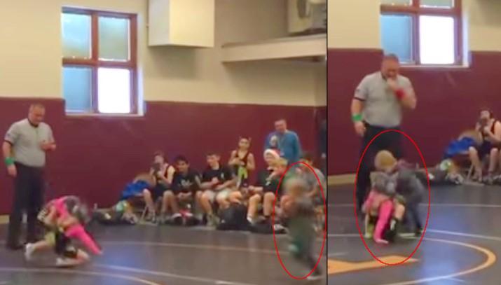 Niño irrumpió torneo ¡para defender a su hermana — Ternura