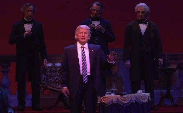 El robot de Donald Trump debutó en Disney World y generó polémica