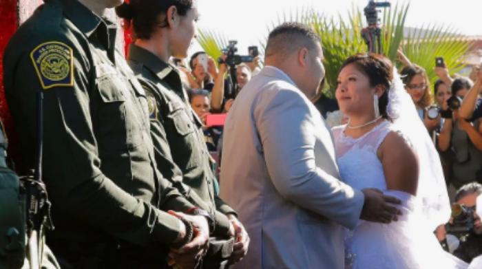Lo dejan casarse en la frontera y resulta que es narco