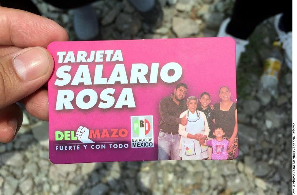 Tarjeta salario rosa