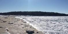 Relacionada arena mar congelado