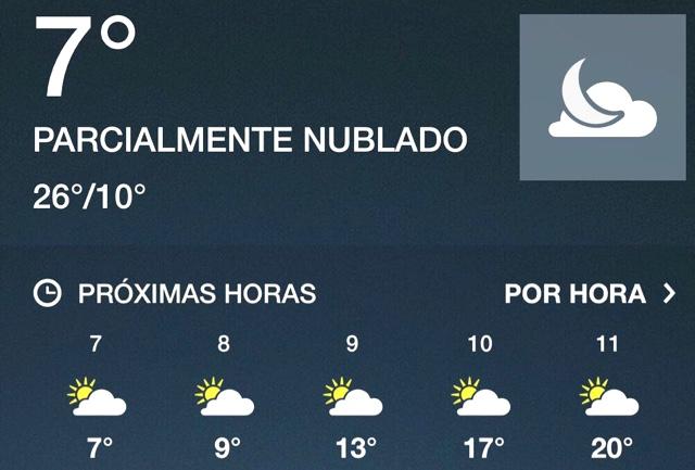 Se esperan temperaturas mínimas por frente frío número 22