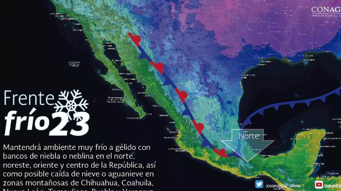 Continuará el ambiente frío a gélido sobre Coahuila