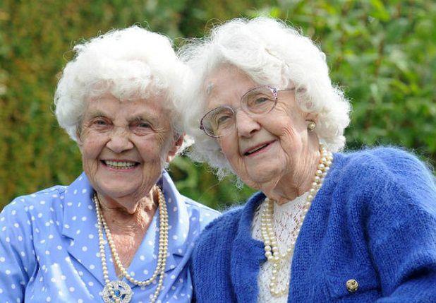 Las gemelas mas viejas del mundo