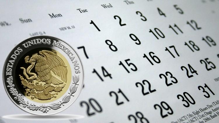 Calendario peso mexicano