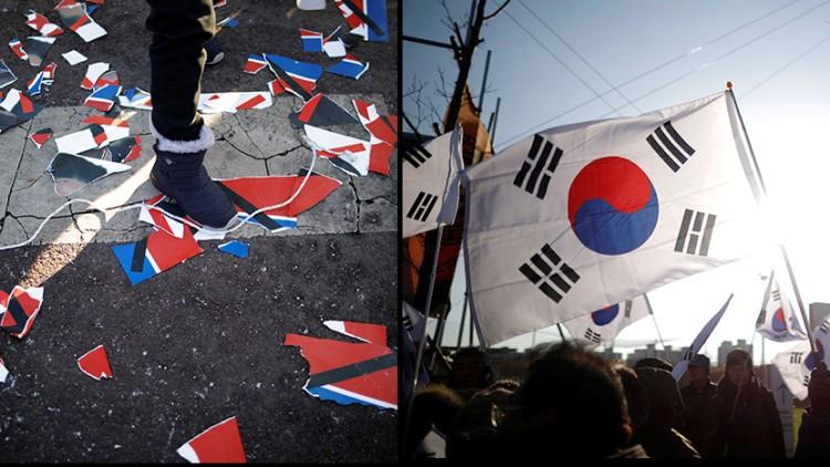 Corea unificada protestas