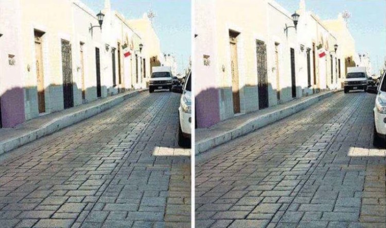 Calle mexicana viral foto