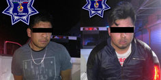 Relacionada polici as municipales arrestaron a dos sujetos por el delito de robo a transeu nte
