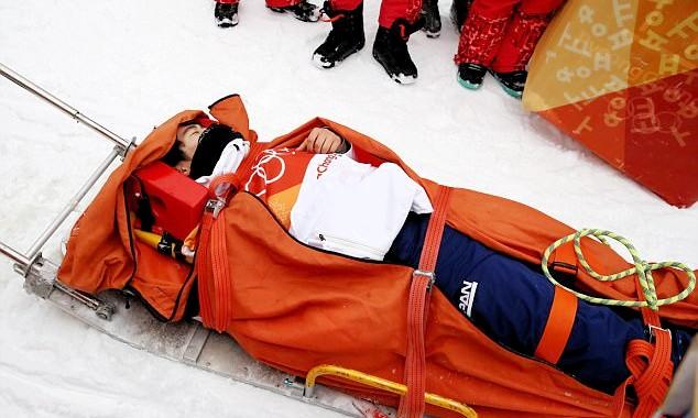 Terrible caída de un deportista en los Juegos Olímpicos de Invierno