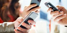 Relacionada usando telefono smartphone