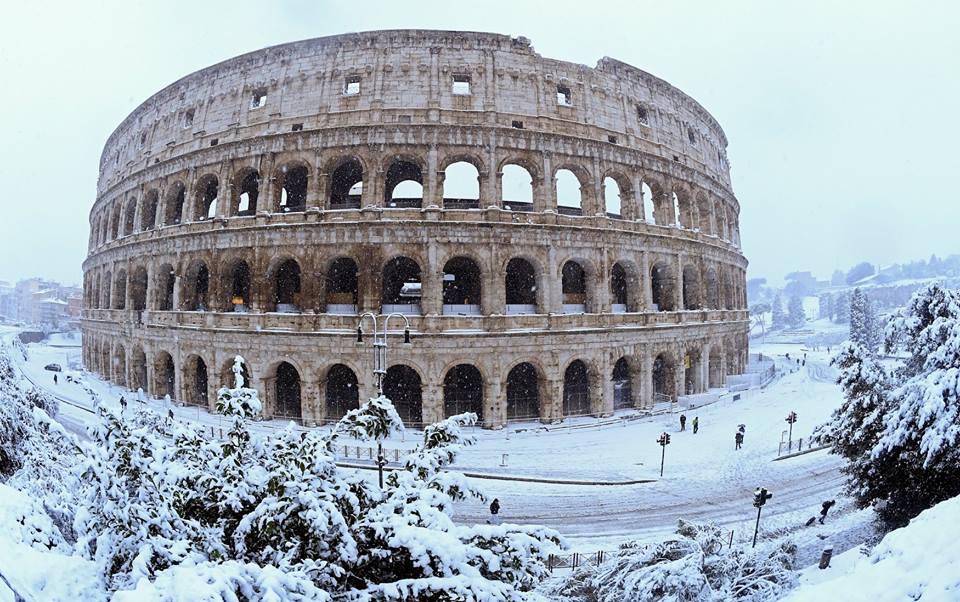 Roma, azotada por nieve y frío siberiano