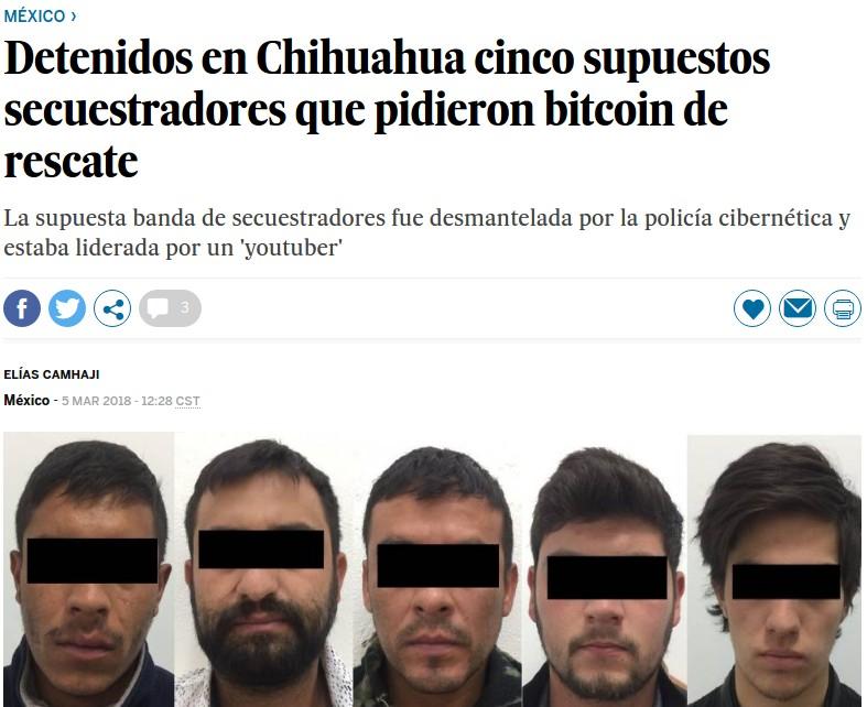 Secuestro bitcoin