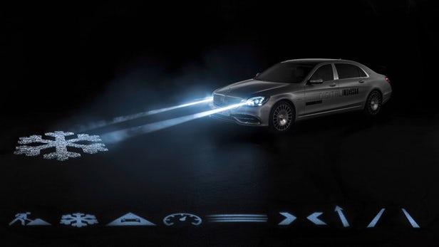 Mercedes maybach digital light smart headlights 10