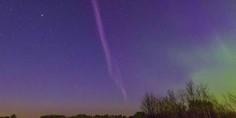 Relacionada aurora boreal