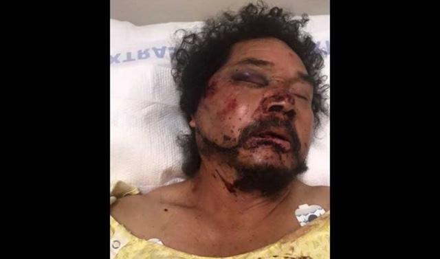 Captan golpiza que recibe migrante mexicano en Los Ángeles
