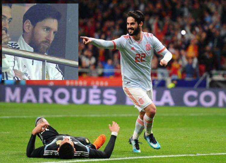 España se florea y golea a la Argentina