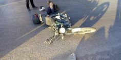 Relacionada motociclist caido