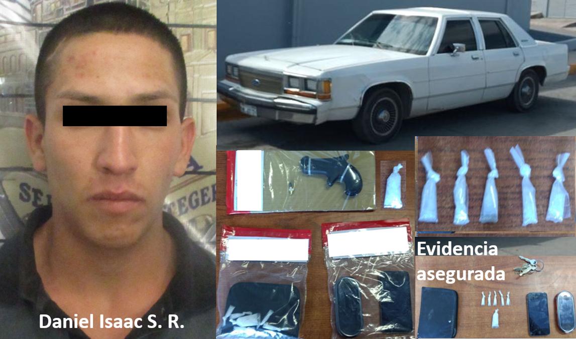 Detenido y evidencia