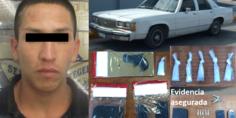 Relacionada detenido y evidencia