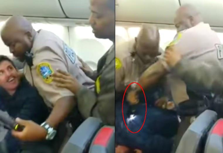 Policias lo electrocutan avion