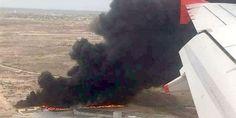 Relacionada mega incendio avion