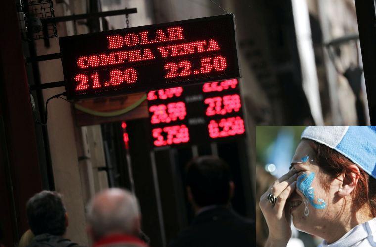 El dólar sin freno, se disparó un 7% al récord $ 23
