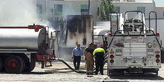Relacionada incendio en caja de trailer