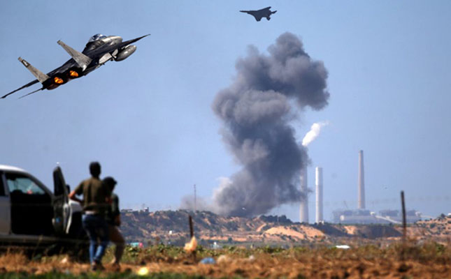 Daily sun israeli warplane hits hamas picture