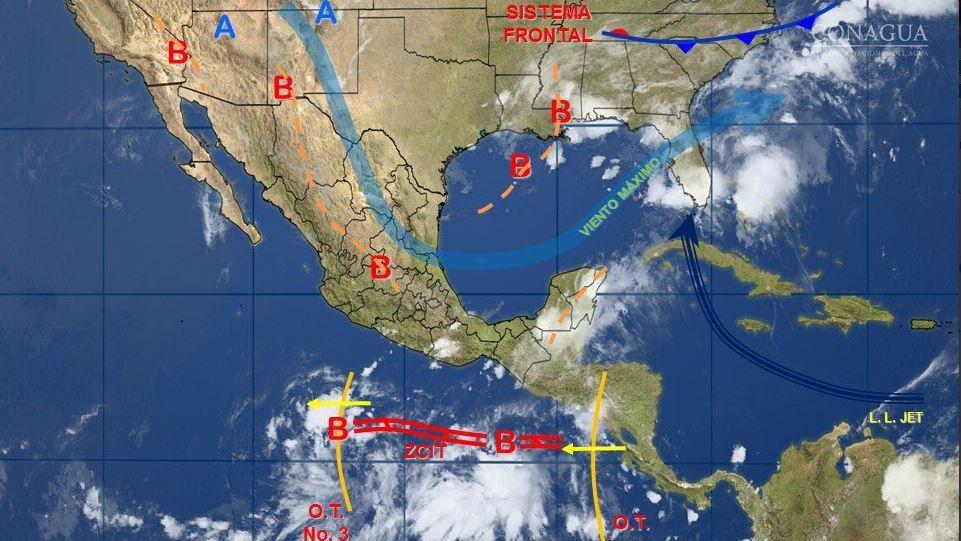 Mapa clima mexico cna
