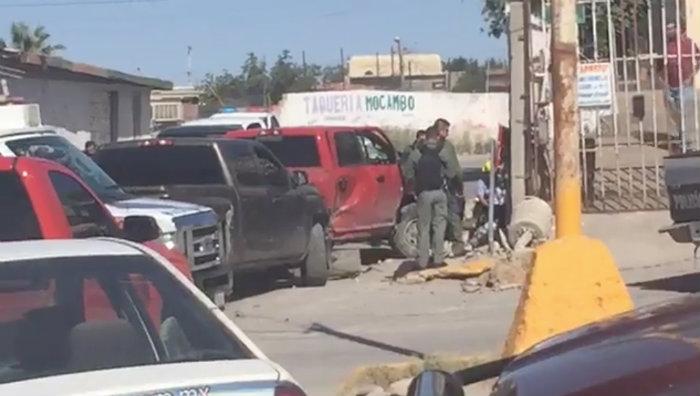 Cuatro agentes ministeriales con lesiones  chocaron en la altavista