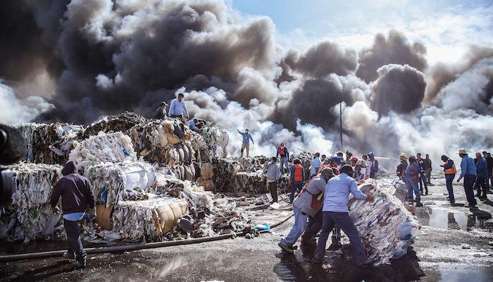 Incendio recicladora ciudad juarez