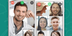 Relacionada group video call on whatsapp
