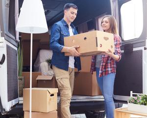 Medium moving house van