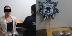 Relacionada trato  de volar con droga pegada al cuerpo y la detuvieron en mexicali