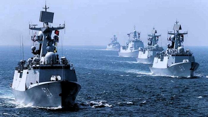China mueve navíos por incursión de buques gringos