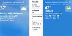 Relacionada temperatura 15 horas chihuahua