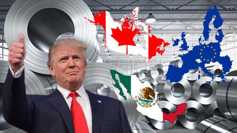 Trump ue m xico y canad  guerra del acero
