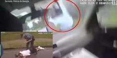 Relacionada brutalidad policial atropella sospechoso