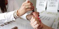 Relacionada dedo marcado voto