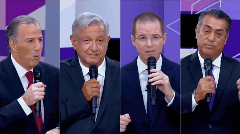 Candidatos presidenciales elecciones 2018 segundo debate 2 png 1348255499.png 1834093470 e1528750976101