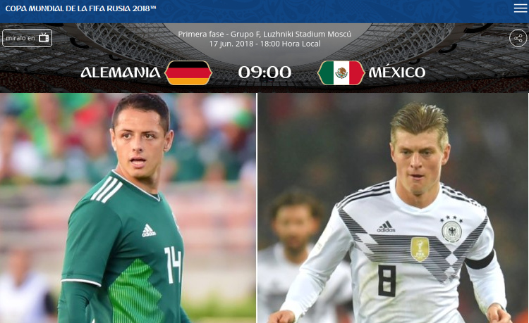 M xico vs alemania aqu hora canales y transmisi n en for Noticias de ultima hora espectaculos mexico