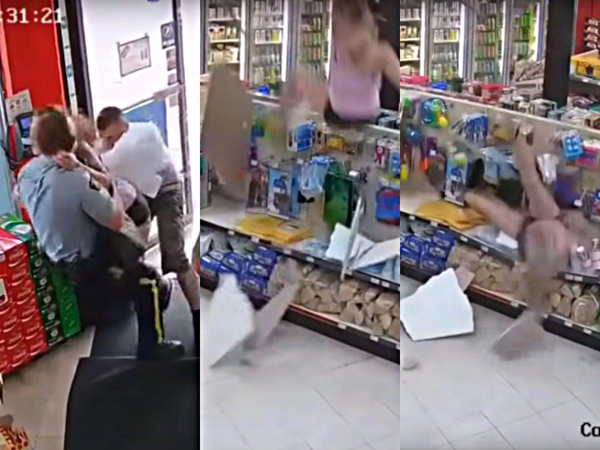 Arrestan a su amigo intenta escapar y cae del techo — Epic fail