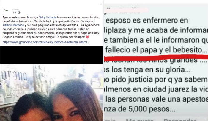 Joven ebrio mata en choque a madre y bebé en Juárez