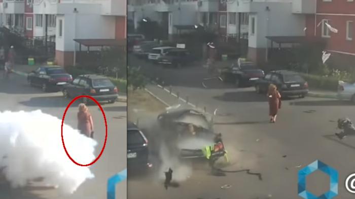 Explosion auto se ora rusia apenas se inmuta