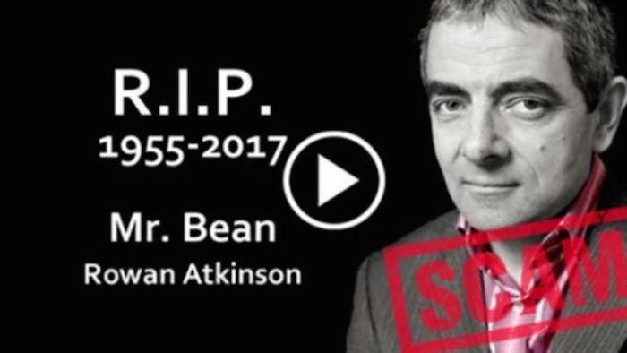 Advierten por supuesto video sobre la muerte de Mr Bean