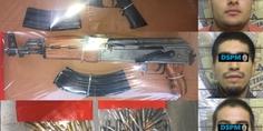 Relacionada 3 detenidos con armas rosario