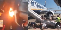 Relacionada incendio celular avion barcelona video