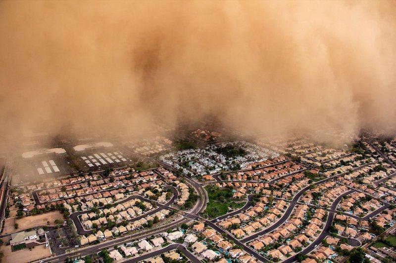 La ira de dios: una tormenta de arena, en EU