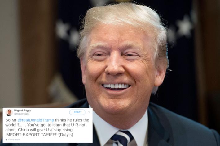 Trump tuit miguel riggs
